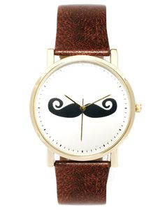mustache watch - would be a great gift for guy or girl $30