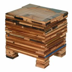 reclaimed scrapwood stool by Piet Hein  Eek