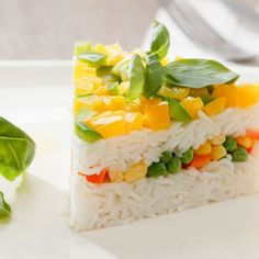 Like a rice salad but in slices!