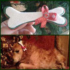 Jm Handmade Christmas dog felt hairclip