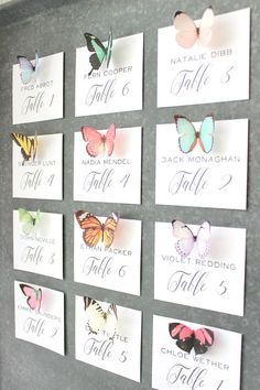 10-15 silk butterfly magnets . set of realistic butterflies . strong magnets . gifts for wedding, br