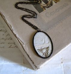 Vintage Lace Doily Necklace by ThatOldBlueHouse2 on Etsy, $32.00