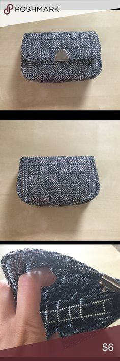 Gray/Silver Clutch Nice little clutch. So shimmery! Catches the light. No pockets on inside. Snap closure. In good condition. Unbranded. Bags Clutches & Wristlets