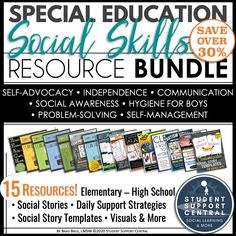 The Special Education Social Skills Resource Bundle is the most comprehensive resource bundle from Student Support Central, providing access to an extensive set of quality resources through one money-saving purchase.