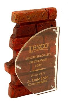 Building Industry Awards, Brick Wall Corporate Award [G50] - $90.00, Awards, Sculptures & Trophies