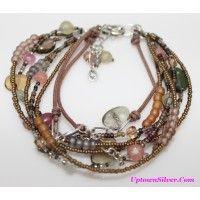 Silpada Artisan Jewelry Chalcedony Smoky Quartz Glass Sterling ..