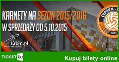 arnety na mecze siatkówki Cuprum Lubin do kupienia online! Normalne. ulgowe i VIP. Atrakcyjne ceny! Nie zwlekaj zamów karnet na sezon 2015/2016: http://ticketik.pl/#!/Organizator/21