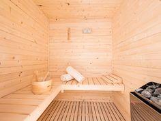 Sauna interior Lounge Club, Saunas, Orcas, Design Process, Outdoor Furniture, Outdoor Decor, Sun Lounger, Interior, House