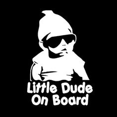 "LITTLE DUDE ON BOARD vinyl decal - size: 7"", color: WHITE - Windows, Walls, Bumpers, Laptop, Lockers, etc. *** Learn more by visiting the image link. (This is an affiliate link) #WallStickersMurals Tree Decals, Wall Stickers Murals, Window Stickers, Window Decals, Vinyl Decals, Funny Bumper Stickers, Buy Stickers, Funny Decals, Funny Warning Signs"