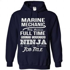 MARINE-MECHANIC - Job title - #sweatshirts for women #mens dress shirt. GET YOURS => https://www.sunfrog.com/No-Category/MARINE-MECHANIC--Job-title-5411-NavyBlue-Hoodie.html?id=60505