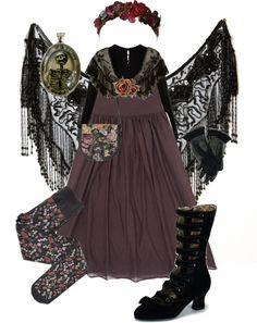 Ensembles Pagan Wicca Witch:  Dark Mori Girl #ensemble.