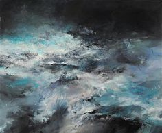 """HOLD TIGHT I - I DRAW THE LINE AND WASH THE SEA ACROSS, OIL ON CANVAS, 48"""" X 58"""" Janette Kerr Cadogan Contemporary"""