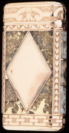 Silver Smalls:Match Safes, A SHREVE & CO. 14K GOLD AND GOLD QUARTZ MATCH SAFE, SanFrancisco, California, circa 1890. 2-1/4 inches high (5.7 cm). 2.00... Image #1