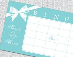 Bridal Shower Bingo!