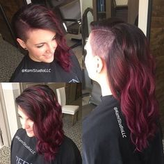Dark Red Hair & Side Shave Thanks @kamistudiollc #UCFeed #Undercut…