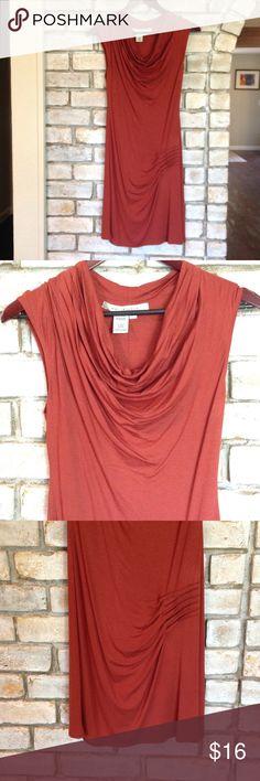 Stunning Dress Like new burnt orange dress. Measures 36 inches long.  92% viscose 8% spandex. Max Studio Dresses