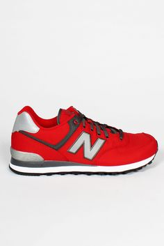 GOOD AS GOLD — NEW BALANCE 574 Windbreaker Sneakers, red    http://www.goodasgold.co.nz/collections/new-balance