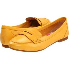 Yellow loafers, almost cooler than navy loafers