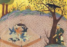 Story of the Bird and Hunter | by persian.painting
