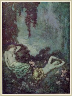 #EdgarAllanPoe   Illustrations by Edmund Dulac for The Poetical Works of Edgar Allan Poe   Published by Hodder & Stoughton ~ 1912