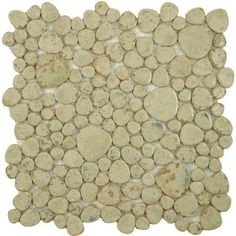 Merola Tile Pebble Green Moss 11 in. x 11 in. x 6 mm Porcelain Mosaic Tile (8.4 sq. ft. / case)