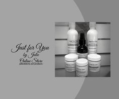 """""""Just for You""""brings to you theholistic approach incorporating the """"Healing Powers ofHerbal Medicineand Pure Essential Oils"""". Addressing theFiveAreas for Healthy, Glowing Skin """"No Matter what Your Age"""" Nourishment. Regeneration. Rejuvenation. Protection.Inner Health Protecting Your Skin's Future"""