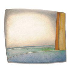 Helen Aitken-Kuhnen, Beach Brooch, Sterling, champlevé enamel - Taboo Gallery