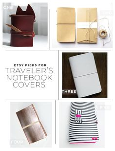 Five fabulous Traveler's Notebook covers found on Etsy
