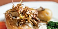 Free range breast of chicken and wild mushrooms - Pair with a Pinot Noir for a delicious meal