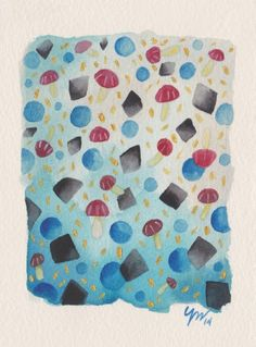 """Shrooms by Yas Doctor - From $50. You will get an 8"""" x 10"""" size art print on museum quality archival paper. More options available at www.projectartshack.com #watercolor #painting"""