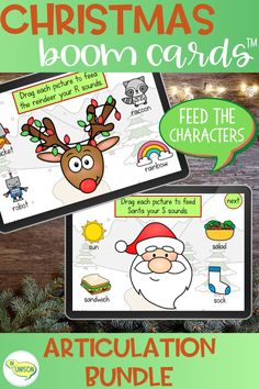 Articulation Therapy, Articulation Activities, Speech Therapy Activities, Christmas Essay, Christmas Fun, Christmas Speech Therapy, G Sound, Christmas Characters, Christmas Activities
