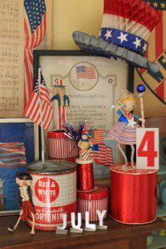 Vintage 4th of July display!