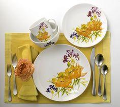 Tiger Lilly 16 Piece Stoneware Dinnerware Set by EuroCeramica #EuroCeramica
