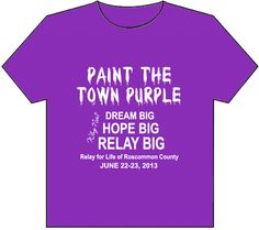 Paint the Town Purple T-Shirts Available for May 10 Awareness Day in Roscommon County