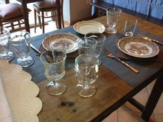 CasaTintoria  Shabby Chich Table Settings, Shabby, Dining Table, Rustic, Furniture, Home Decor, Country Primitive, Decoration Home, Room Decor
