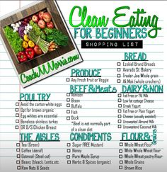 Clean Eating for Beginners: Shopping List >> Looking for healthy recipes, meal prep/cooking tips, nutritional tips, and health benefits of many foods and ingredients. Check out our nutrition section. Get Healthy, Healthy Snacks, Healthy Recipes, Eating Healthy, Diet Recipes, Healthy Eats, Advocare Recipes, Healthy Protein, Happy Healthy