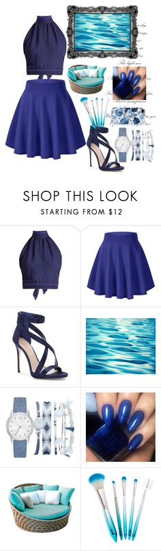 """""""Blue"""" by kalina-stoycheva ❤ liked on Polyvore featuring CECILIE Copenhagen, Imagine by Vince Camuto, A.X.N.Y. and Skyline"""