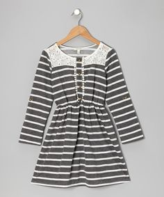 Take a look at this Black & White Stripe Dress - Girls on zulily today!