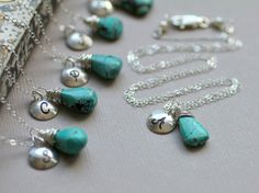 what fun gifts for bridesmaids - great way to customize a necklace