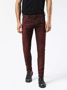 Diesel carrot Jeans for man: buy the perfect fit to make your legs look slimmer and longer. Try our Tepphar, Rhial and Deepzip! Update your closet with the latest arrivals on Diesel Official Online Store. Jogg Jeans, Diesel Jeans, Perfect Fit, Slim, Legs, Bordeaux, Pants, Stuff To Buy, Shopping