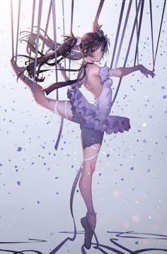 Ballerina Puppet Anime I think? O.O -♤ Beautiful Anime Art ♤ Manga Girl, Art Manga, Chica Anime Manga, Anime Girls, Chibi, Beautiful Anime Girl, I Love Anime, Ballet Beautiful, Anime Style