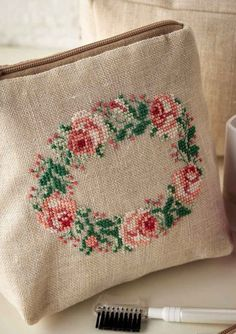 Bag of Roses- Project Available in Cross Stitch Collection 253