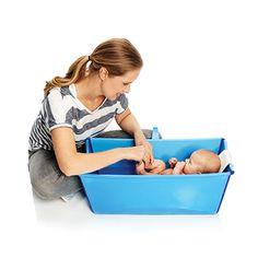Costco Mexico - Stokke, Flexi Bath™ Bañera de bebé plegable azul con soporte para recién nacido