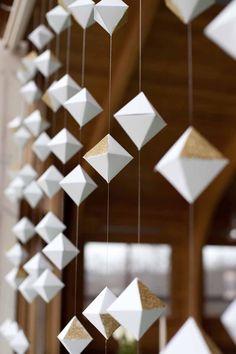 Mint Space Design: handmade polyhedron backdrop