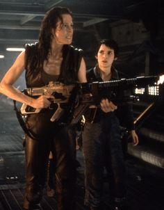 Sigourney Weaver as Ellen Ripley in Alien Resurrection. #Gynoid