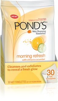 Pond's face wipes - Soft cloth textured with invigorating mircrobeads removes impurities and polishes away skin's dullness without drying. A sparkling citrus and cucumber scent exhilarates the senses.