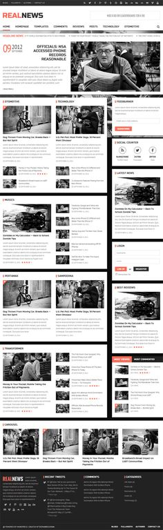 Realnews - Stylish and Responsive Magazine Theme #responsivewordpressthemes #wordpressthemes #premiumwordpressthemes