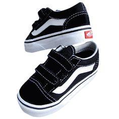04223677a Vans Old Skool V Black Shoes Vans Para Niños