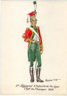 French; 9th Line Infantry, Chef de Musique, 1809