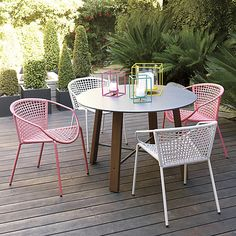 Outdoor shit. sophia silver dining chair in outdoor furniture | CB2